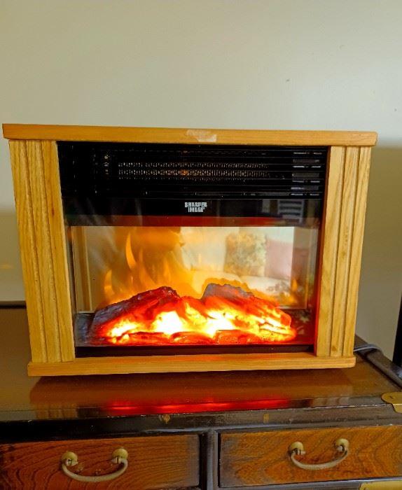 Sharper Image tabletop fireplace