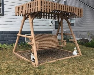 handmade wooden swing