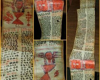 Ethiopian (African) healing scroll