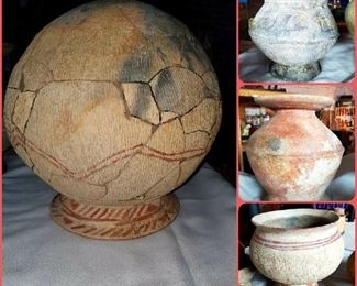 4 large pieces of Biang Chiang Thailand pottery