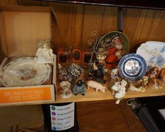 miniatures, Limoge, Santa plate,  nursery dish set