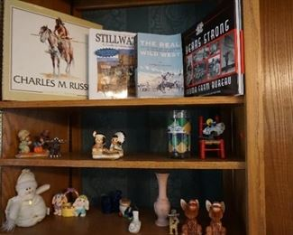 Wester-history books, Donkey salt and pepper shakers, Native American salt and pepper shakers, miniatures
