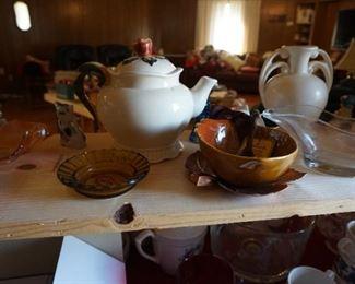 tea pot, serving pieces