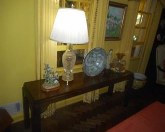 """CHIPPENDALE STYLE MAHOGANY CONSOLE TABLE 64"""" LONG $300"""