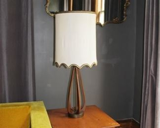 MCM lamp and table, Rococo mirror