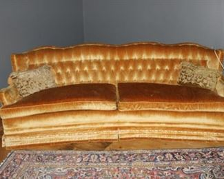 mid-century Hollywood glam style curved sofa - SOFT!!!!