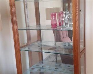 Nice large Oak Curio Cabinet