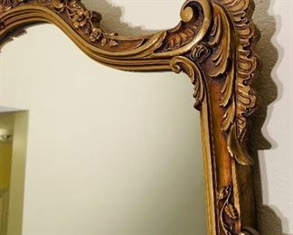 $195 •  #2.  French style mirror • 39 wide 43 high