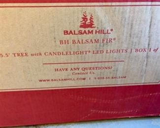 Never opened Balsam Hill Balsam Fir with candlelight LED LIGHTS
