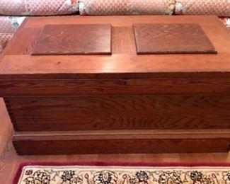 Vintage wood chest