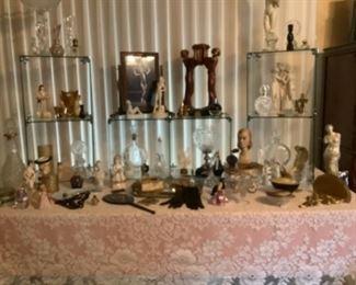 Vintage glassware and porcelain
