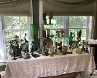 Glassware, pottery, statuary and unique smalls