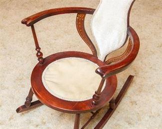 Sweet Rocking Chair w/inlay