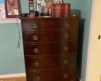 matching mahogany chest