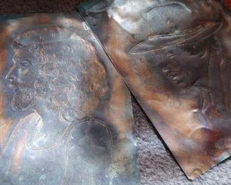 Etched copper art