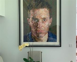 Original Chuck Close  known for is photorealism  Signed & Dated 2004 46/80