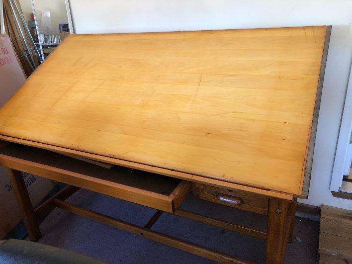 Vintage Hamilton Drafting Table
