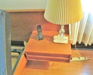 QUEEN TEAK PLATFORM BED WITH FLOATING NIGHTSTANDS, PERFECT CONDITION $1,800.00