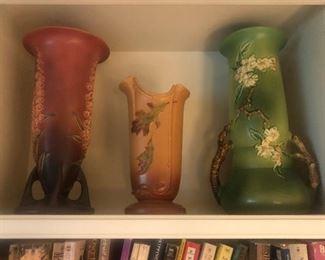 Art Pottery  Foxglove Roseville, Oak Leaf Weller, Apple Blossom Roseville!