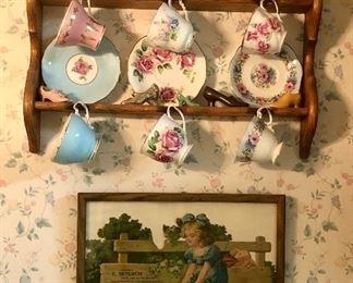 Tea Cups and Saucers   Advertising Calendar