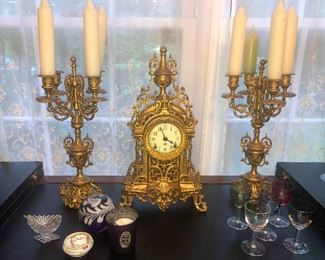 Dracula clock and candelabras