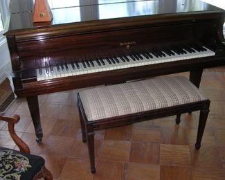 1972 Knabe Mahogany Baby Grand Piano.  $4000.