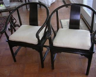 Pair Ming Style Asian Horseshoe Chairs.....$500/pair