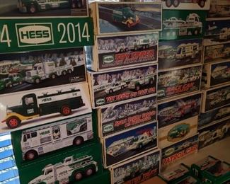 Tons of new in box Hess trucks