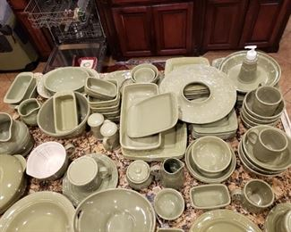 Longaberger Woven Traditions Pottery Dinnerware- About 100 pcs