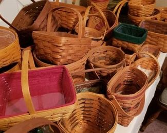 Longaberger baskets everywhere- Everyone should own a piece of Americana- Longaberger closed it's doors 2 yrs ago- True collectors items