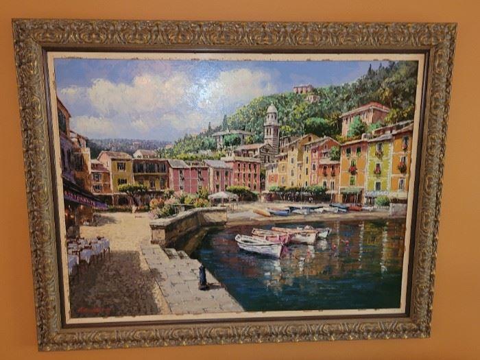 $400.00, S. Sam Park 4 x 3' framed,  signed, AP 17/75