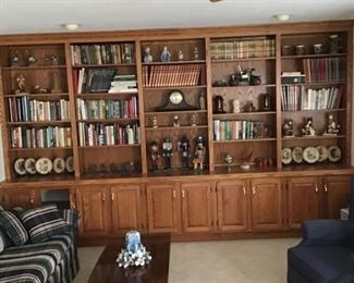 Lots of Books, Hummel Plates, Mantle Clock and Nutcrackers