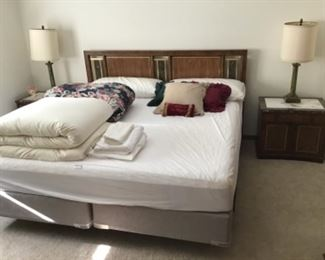 METZ King size Bed Headboard, Mattresses included