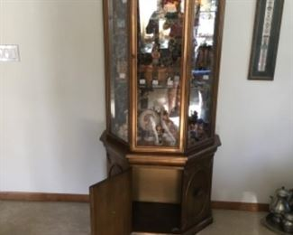 Lighted small China hutch