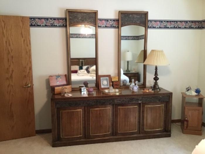 METZ Mid Century Marble Inset Dresser