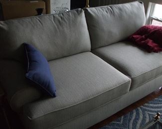 Sofa beige  New contemporary couch 89 inches long