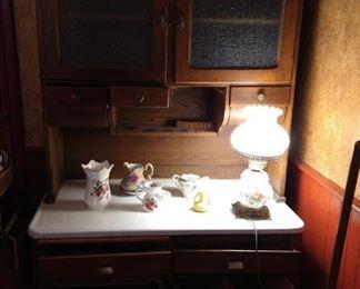 Early 20C Pot Belly Hoosier Cabinet