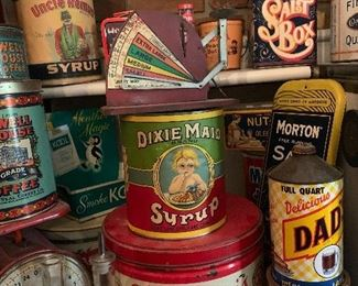 Vintage Tin Cans and Containers
