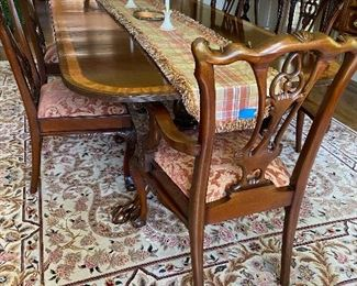 COUNCILL DINING ROOMWITH 8 CHAIRS AND 2-20' LEAVES AND SIDEBOARD