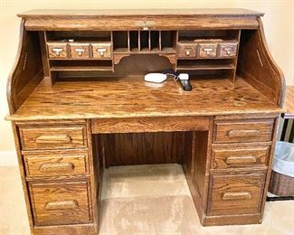 Additional photo of inside of roll top desk