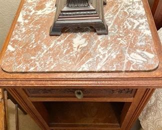 Additional photo of marble top.