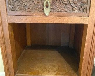 Additional photo of wood carved drawer.
