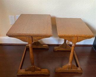 Vintage Oak Nesting Tables.