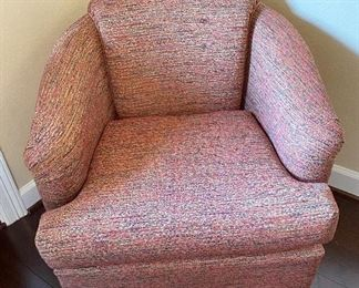 Newly Upholstered Swiveled Chair.
