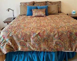Custom Pillows & Bedspread for King Size Bed