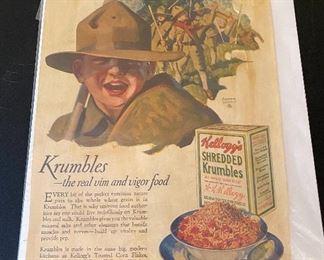 Vintage Kellogg's Advertising Page