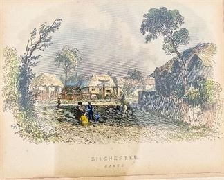 Close up of Silchester Hants print