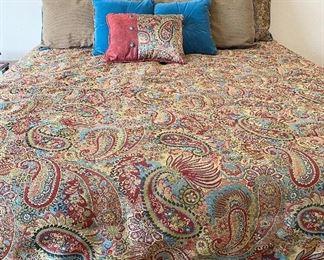 Custom Pillows, Comforter & Bed Skirt  for King Size Bed.