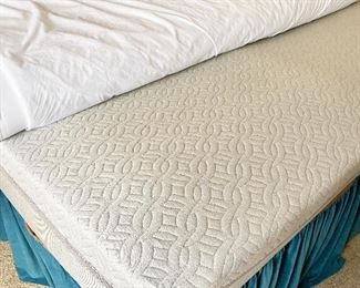 """""""Sleep Number"""" Split Top King Size Bed with Extra Foam Top."""