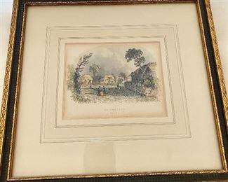 """Framed Print of Silchester Hants """"1890"""""""
